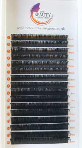 Mixed Length Trays Beauty Training Group Mink Lashes